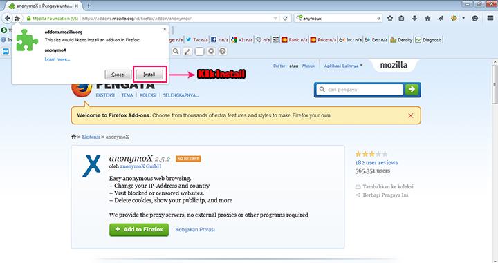 Tutorial Cara Membuka Situs yang di Blokir Atau Internet Sehat Menggunakan Anymoux Step 3